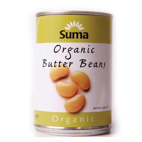 Suma Butter Beans - Organic  2 x 400g