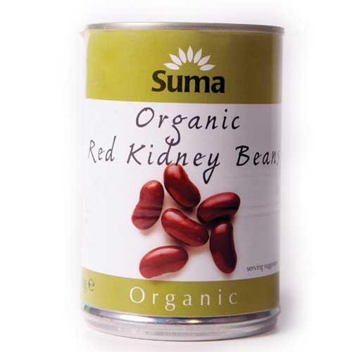 Suma Red Kidney Beans - Organic - 2 x 400g